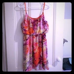 Sleeveless multicolored summer dress NWT